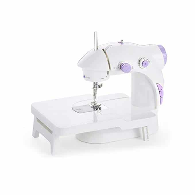 Iboost Portable Sewing Machine with Extension Table, Bobbins, Needles, and Foot Pedal, 2-Speed