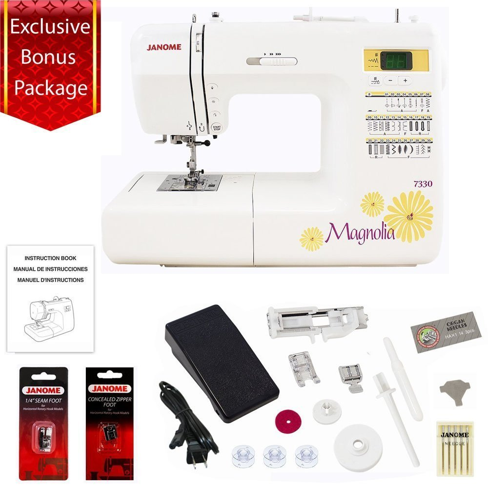 Janome 30 Stitch Computerized Magnolia 7330 Sewing Machine