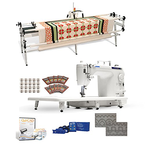 Juki TL-2010Q 9 Long-arm Machine, Grace SR-2+ Quilting Frame, SureStitch Regulator, Pattern Templates