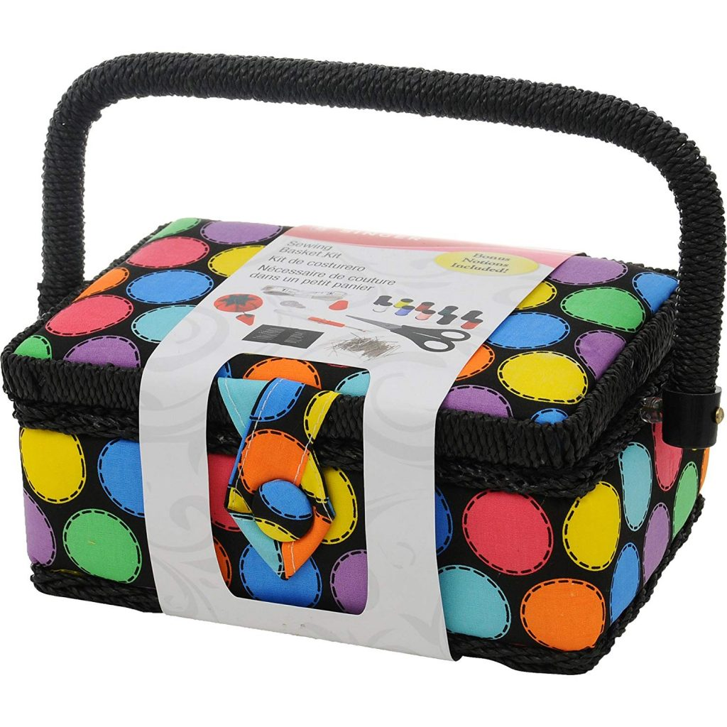 SINGER 07272 Polka Dot Small Sewing Basket