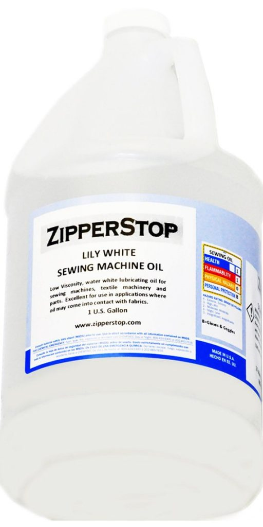 Zipperstop Sewing Machine Oil ~ Lily White